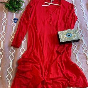Stunning asymmetrical red dress💃🏻